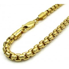 10k Yellow Gold Skinny Venetian Box Bracelet 8 Inch 5mm