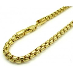 10k Yellow Gold Venetian Box Bracelet 9 Inch 3.5mm