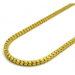 10k Yellow Gold Fancy Diamond Cut Box Chain 22 Inch 1.5mm