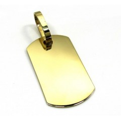 10k Yellow Gold Medium Dog Tag Pendant