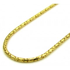 10k Yellow Gold Skinny Tube Chain 16-20 Inch 1.0mm