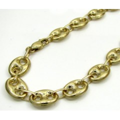 10k Yellow Gold Puffed Gucci Hollow Bracelet 8.5 Inch 9mm