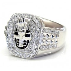 14k White Gold Diamond Pharaoh Ring 0.53ct