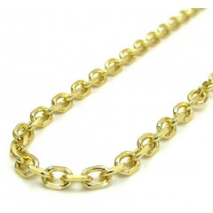 14k Yellow Gold Skinny Solid Cable Chain 18-30 Inch 2.5mm