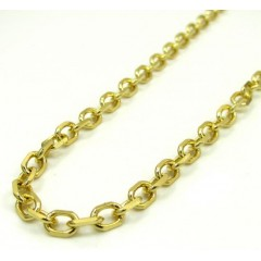 14k Yellow Gold Medium Solid Cable Chain 20-30 Inch 3.5mm