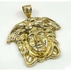 10k Yellow Gold Medium Medusa Head Pendant