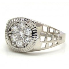 10k White Gold Cz Preside...
