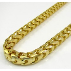 10k Solid Yellow Gold Tight Link Xl Franco Chain 26-40 Inch 6mm