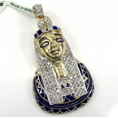 10k Yellow Gold Pharaoh Sphinx Pendant 1.13ct