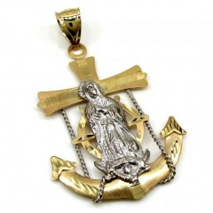 10k Yellow Gold Two Tone Santa Maria Anchor Pendant