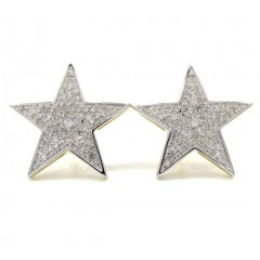 10k Yellow Gold Fancy Diamond Star Earrings 0.53ct