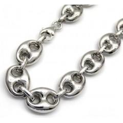 .925 Silver Gucci Puff Bracelet 9 Inch 12mm
