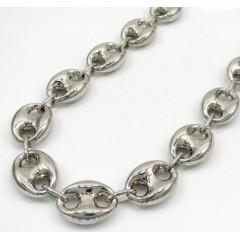 Silver Gucci Puff Chain 30 Inch 12.3mm