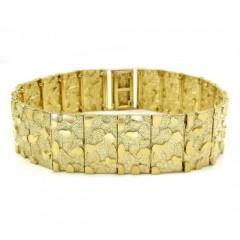10k Yellow Gold Xl Nugget Bracelet