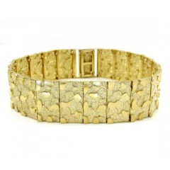 10k Yellow Gold Xl Nugget Bracelet