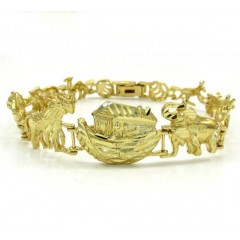10k Yellow Gold Large Noah's Ark Bracelet