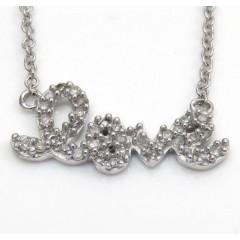 14k White Gold Diamond Lo...