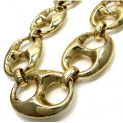 10k Yellow Gold Xxl Gucci Puff Chain 30 Inches 45mm