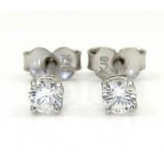 Ladies 18k White Gold Diamond Stud Earrings 0.32ct
