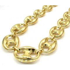 10k Yellow Gold Gucci Link Chain 26-36 Inch 16.50mm
