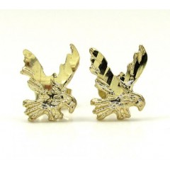 10K Yellow Gold Diamond Cut Eagle Earrings