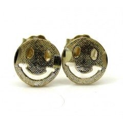 10k Yellow Gold Smiley Fa...