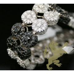 32.25ct 14k White Gold black & White Diamond Bracelet