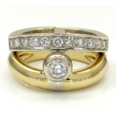 Baraka 18k Two Tone Gold Diamond Band 0.61ct
