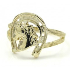 10k Yellow Gold Horse Shoe Ring