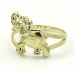 10k Yellow Gold Elephant ...