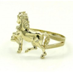10k Yellow Gold Horse Rin...