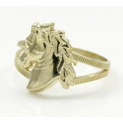 10k Yellow Gold Horse Hea...