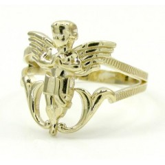 10k Yellow Gold Angel Rin...