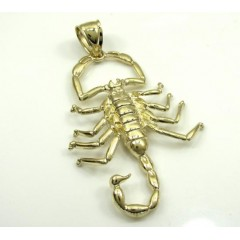 10k Yellow Gold Scorpion Pendant