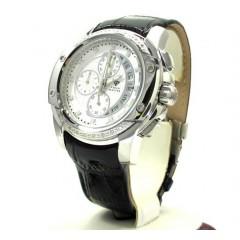 Mens Aqua Master White Stainless Steel Diamond Watch 0.12ct