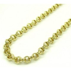 10k Yellow Gold Double Rolo Chain 20-24 Inch 3.5mm