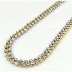 14k Gold Moon Cut Bead Chain 16-30 Inch 1.8mm