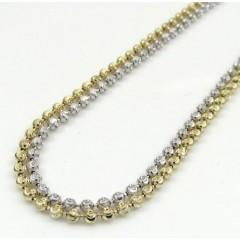 14k Gold Moon Cut Bead Chain 16-30 Inch 1.8mm