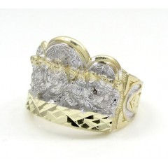 Mens 10k Yellow Gold the Last Supper Ring