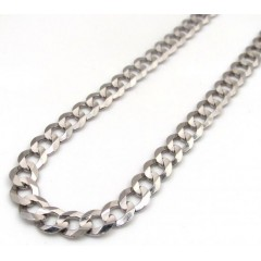 10k White Gold Solid Cuban Chain 22 Inch 4.60mm