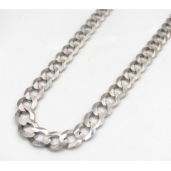 10k White Gold Solid Cuban Chain 22 Inch 5.70mm