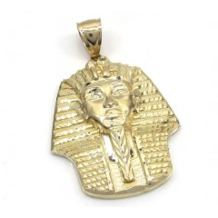 10k Yellow Gold Medium King Tut Pharaoh Head Pendant
