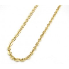 10k Yellow Gold Puffed Gucci Hollow Chain 16-24 Inch 3mm