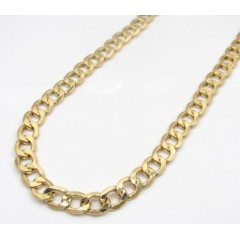 10k Yellow Gold Thick Hollow Cuban Chin 22-26 Inch 8.70mm