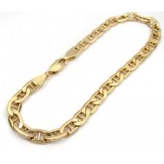 10k Yellow Gold Mariner Bracelet 8.50 Inch 5.50mm