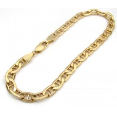10k Yellow Gold Mariner Bracelet 8 Inch 5mm