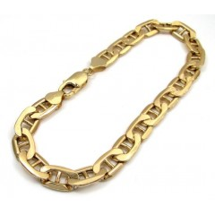 10k Yellow Gold Mariner Bracelet 9.00 Inch 7.80mm