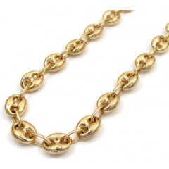 10k Yellow Gold Puffed Mini Gucci Hollow Chain 16-30 Inch 6.50mm