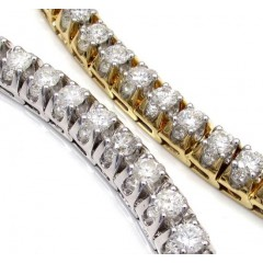 14k Gold Triple Set Diamond Tennis Bracelet 8 Inch 11.97ct