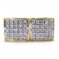 10k Gold 5 Row Diamond Earrings 0.16ct